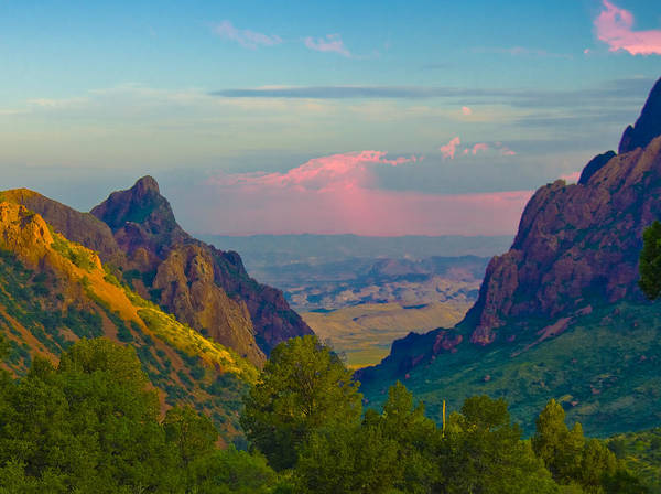 Mountain Sunset Photograph - Big Bend Texas From The Chisos Mountain Lodge by Gary Grayson