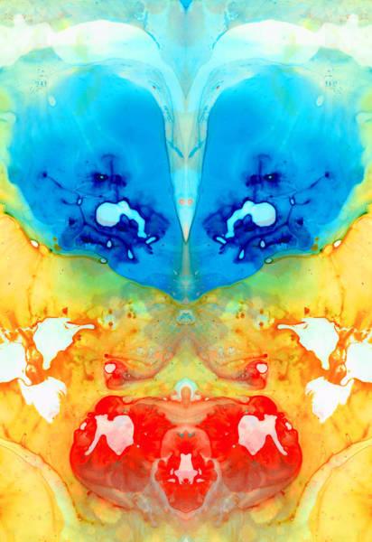 Painting - Big Blue Love - Visionary Art By Sharon Cummings by Sharon Cummings