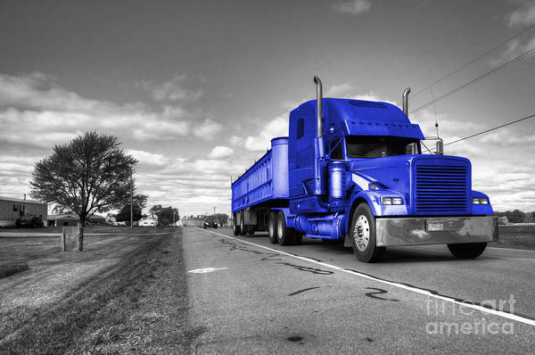 Peterbilt Photograph - Big Blue Rig  by Rob Hawkins