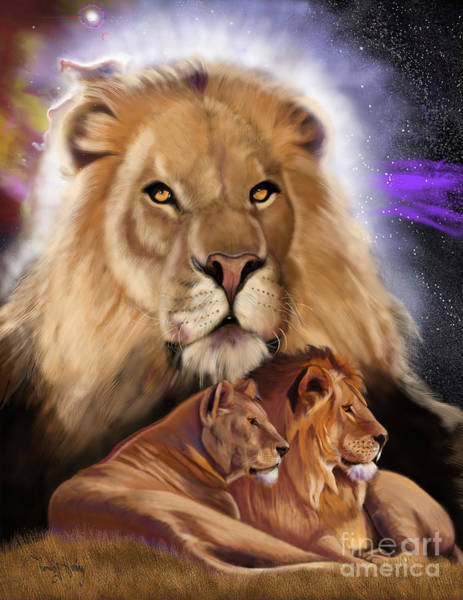 Painting - Third In The Big Cat Series - Lion by Thomas J Herring