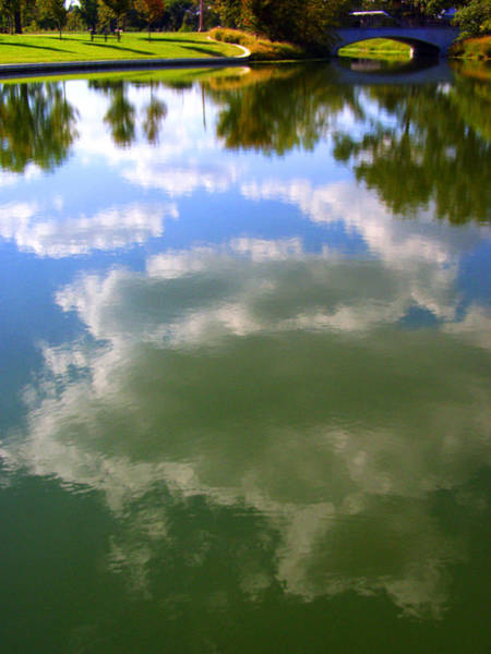 Photograph - Big Cloud Lake Reflection Landscape by Patrick Malon