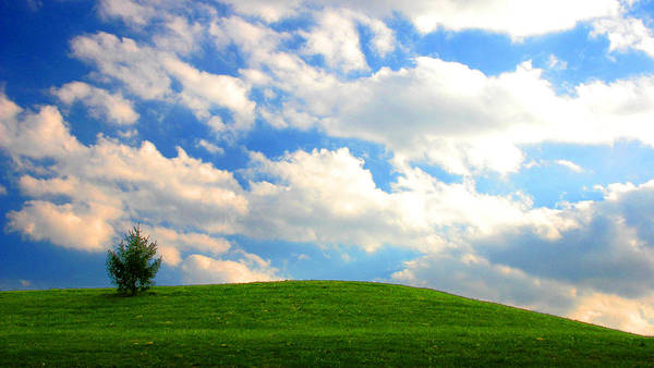 Photograph - Big Clouds Hillside Landscape by Patrick Malon