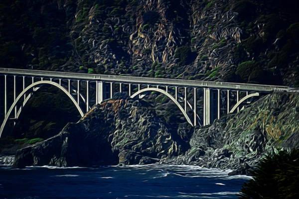 101 Digital Art - Big Creek Bridge Digital Art by Ernie Echols
