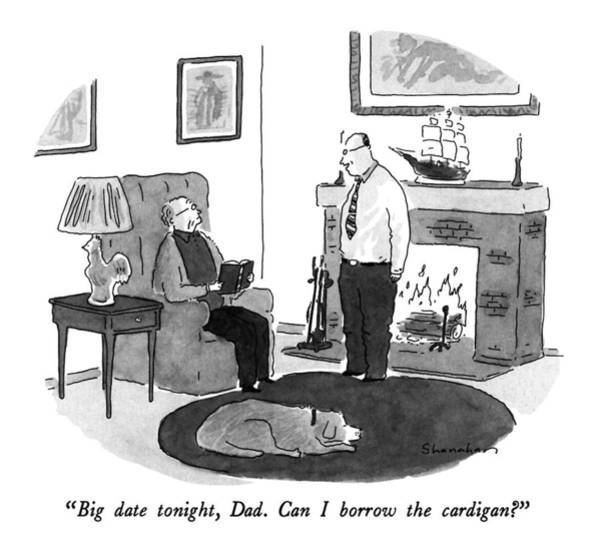 Fireplace Drawing - Big Date Tonight by Danny Shanahan