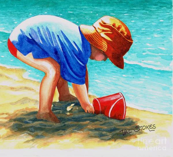Painting - Big Dig by Val Stokes