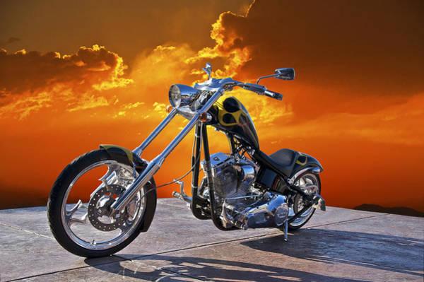 Chopper Photograph - Big Dog Studio 4 by Dave Koontz