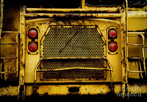 Excavator Photograph - Big Dump Truck Grille by Amy Cicconi