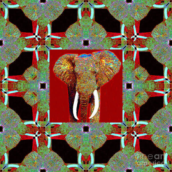 Photograph - Big Elephant Abstract Window 20130201p0 by Wingsdomain Art and Photography