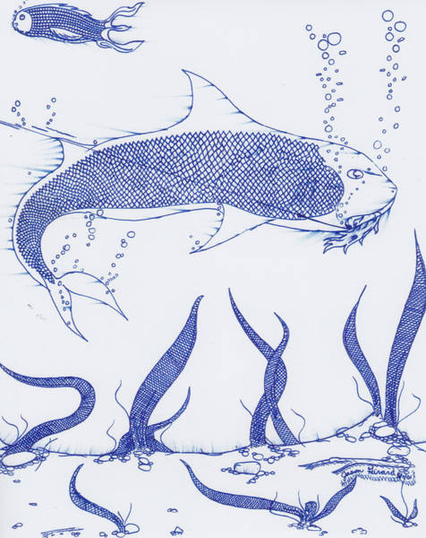 Drawing - Big Fish by Jason Girard
