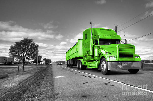 Peterbilt Photograph - Big Green Rig by Rob Hawkins