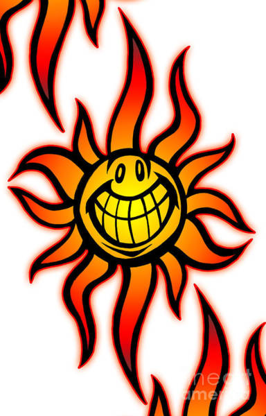 Painting - Big Happy Sun by Gregory Dyer