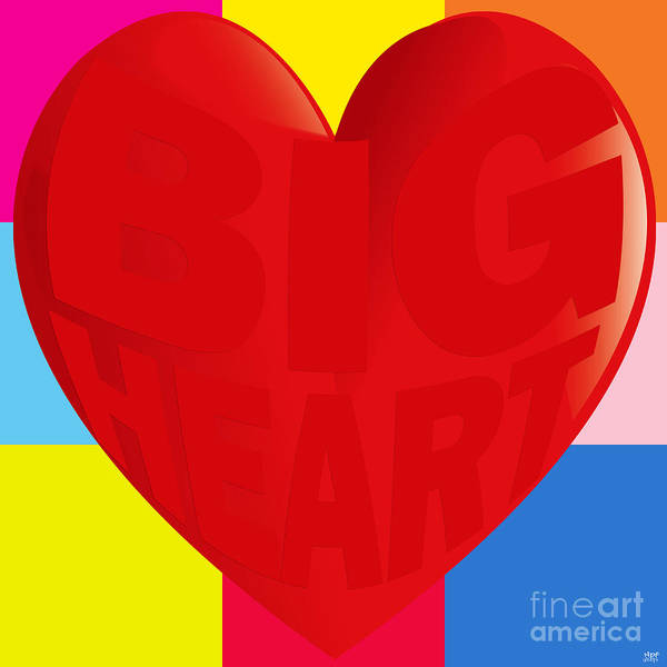 Revolting Digital Art - Big Heart by Neil Finnemore