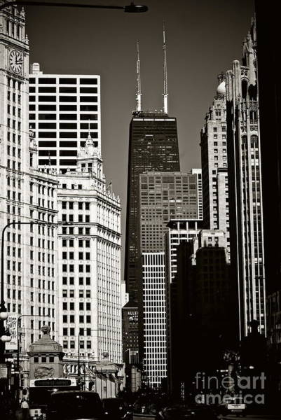 Photograph - 'big John' Chicago - Sepia  by Frank J Casella