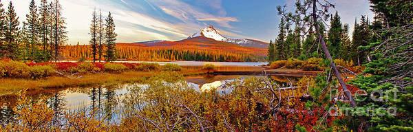 Photograph - Big Lake And Mt Washington Oregon by Michael Cross