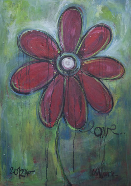 Painting - Big Love Daisey by Laurie Maves ART