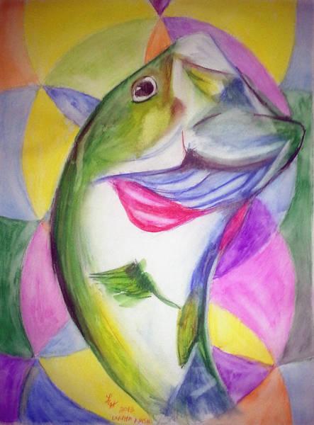 Big Mouth Bass Art Print