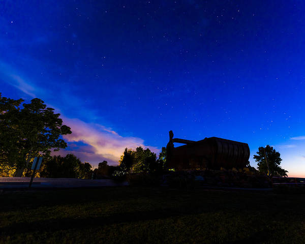 Photograph - Big Muskie Bucket Under The Stars by Jack R Perry