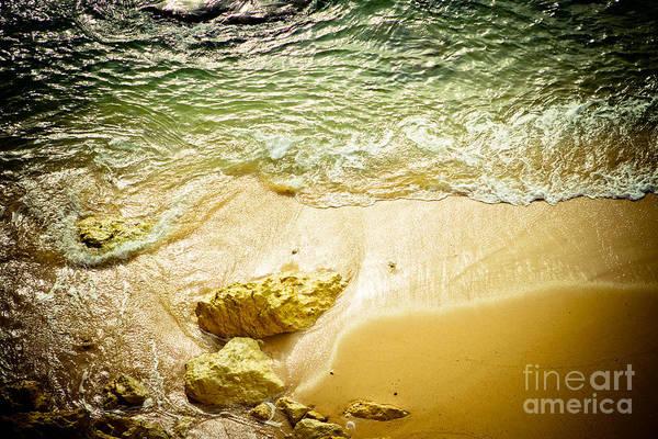 Wing Back Photograph - Big Ocean Wave Spalsh Portugal Coastline by Raimond Klavins