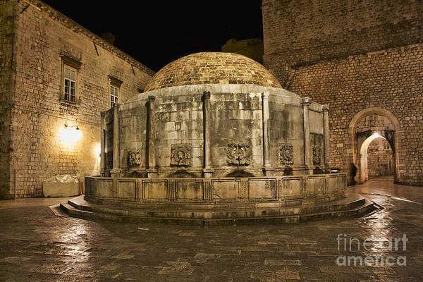 Photograph - Big Onofrio's Fountain - Dubrovnik by Crystal Nederman