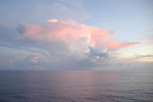 Photograph - Big Pink Cloud Over Sea by Bradford Martin