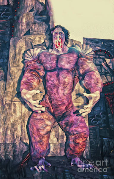 Painting - Big Purple Monster by Gregory Dyer
