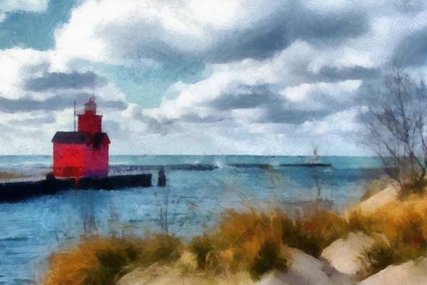 Photograph - Big Red Big Wind 2.0 by Michelle Calkins