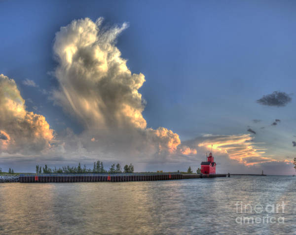 Holland Wall Art - Photograph - Big Red Lighthouse In Holland by Twenty Two North Photography