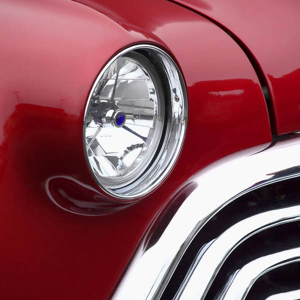 Dramatic Wall Art - Photograph - Big Red Oldsmobile by Carol Leigh