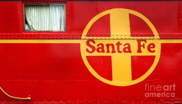 Photograph - Big Red Santa Fe Caboose by Paul W Faust -  Impressions of Light