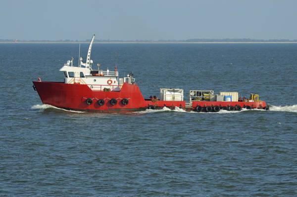 Photograph - Big Red Supply Boat by Bradford Martin