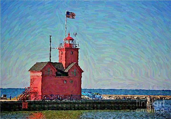 Holland Mi Wall Art - Photograph - Big Red Two by Robert Pearson
