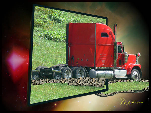 Photograph - Big Rig Into Another World by Ericamaxine Price