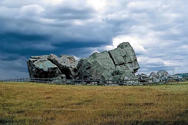 Barley Painting - Big Rock 2 by Terry Reynoldson