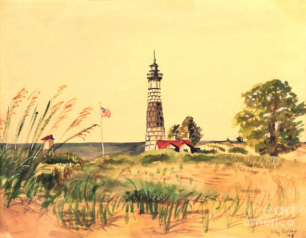Painting - Big Sable Lighthouse 1945 by Art By Tolpo Collection