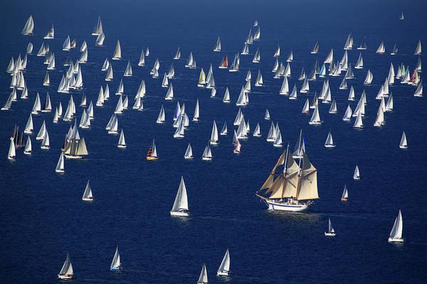 Friuli Photograph - Big Sailing Boat And Yacths Racing by Max Paoli