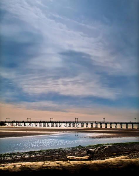 Clarity Digital Art - Big Skies Over The Pier by Eva Kondzialkiewicz