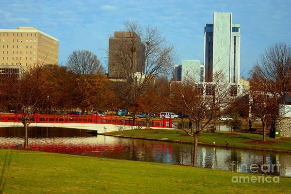 Photograph - Big Spring Park Huntsville Skyline by Lesa Fine