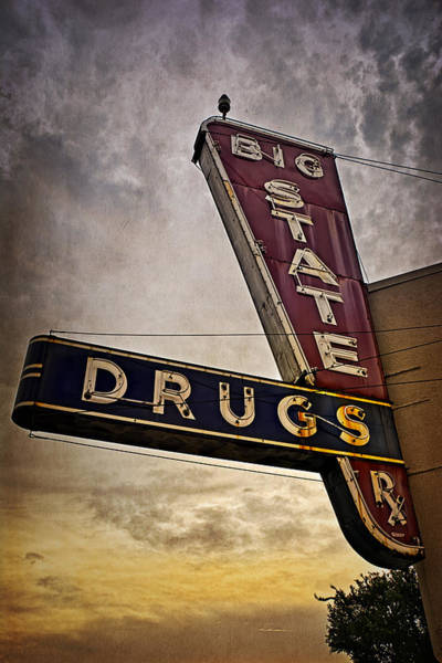 Photograph - Big State Drugs Irving by Joan Carroll