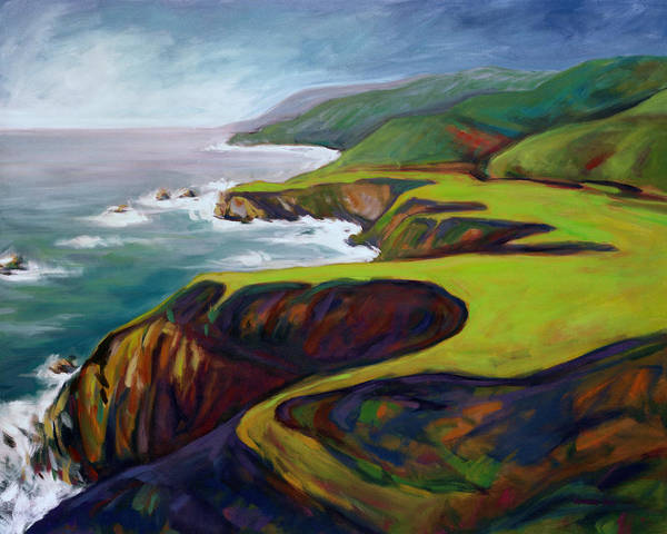 Art Print featuring the painting Big Sur 2 by Konnie Kim