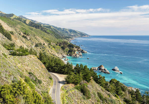 1 Photograph - Big Sur, California, Coastline From by Picturelake