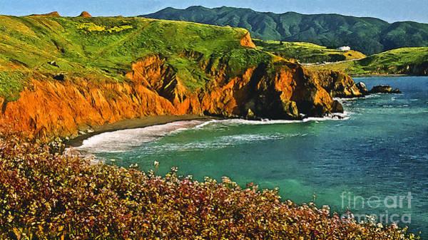 Painting - Big Sur California Coastline by Bob and Nadine Johnston