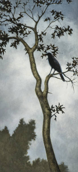 Raven Painting - Big Sur by David Palmer