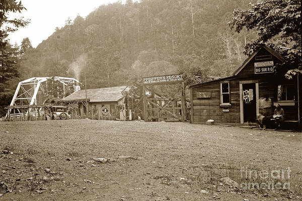 Photograph - Big Sur Post Office Pfeiffer Resort May 7 1935 by California Views Archives Mr Pat Hathaway Archives