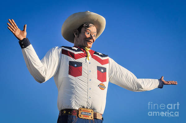 Greeters Photograph - Big Tex - State Fair Of Texas - No. 2 By D. Perry Lawrence by David Perry Lawrence