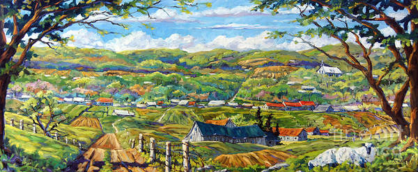 Canadien Painting - Big Valley By Prankearts by Richard T Pranke