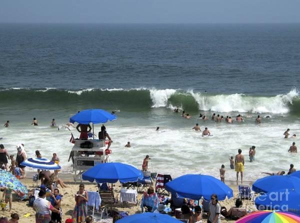 Digital Art - Big Waves At Bethany Beach In Delaware by William Kuta