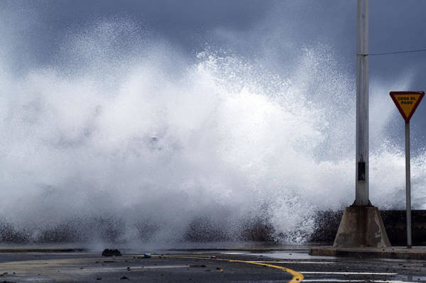Malecon Wall Art - Photograph - Big Waves From The Windy Storm by Svetlana Bahchevanova
