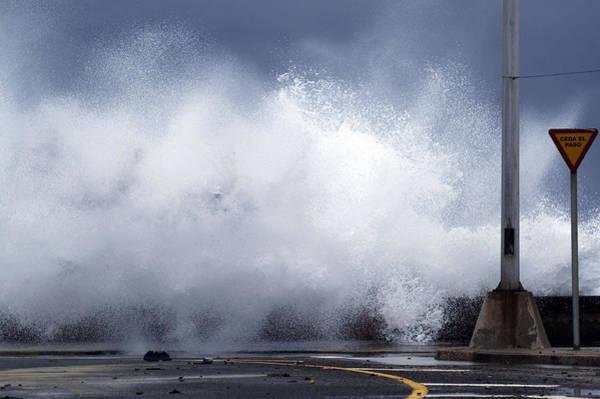 Boulevard Photograph - Big Waves From The Windy Storm by Svetlana Bahchevanova