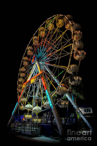 Fairground Photograph - Big Wheel by Adrian Evans