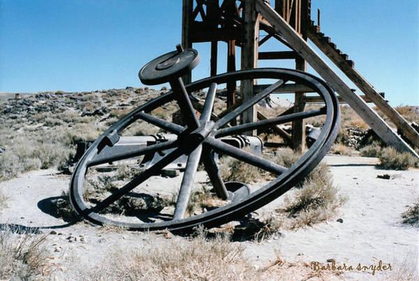 Bodie Digital Art - Big Wheel Bodie by Barbara Snyder